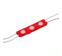Світлодіодний модуль 12 V червоний smd5730 3led 1.5 W IP65