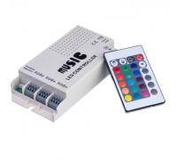 LED контролер музичний RGB 9А-108Вт (RR 24 кнопки)