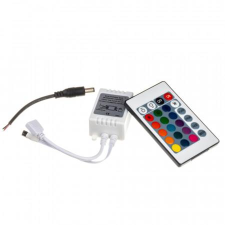 LED контроллер светодиодный RGB 12А-144Вт (IR 24 кнопки)