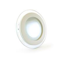 Светодиодный светильник точечный со стеклом 6 Вт круглый 4000К IP20
