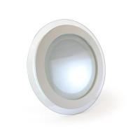 Светодиодный светильник точечный со стеклом 12 Вт круглый 4000К IP20