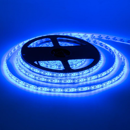 Светодиодная лента синяя 12V smd2835 120LED/м IP20