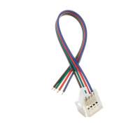 Коннектор для cветодиодной ленты RGB 12V 10mm провод/зажим