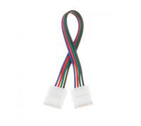 Коннектор для cветодиодной ленты RGB 12V 10mm провод/2 зажима