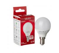 LED лампа Е14 G45 5W нейтральна біла 4100К SIVIO