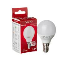 LED лампа Е14 G45 5W нейтральная белая 4100К SIVIO