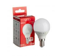 LED лампа Е14 G45 6W тепла біла 3000К SIVIO