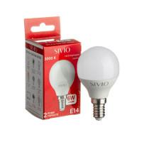 Светодиодная лампа G45 SIVIO теплая белая 6W E14 3000K