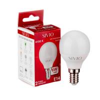 Светодиодная лампа G45 SIVIO нейтральная белая 6W E14 4100K