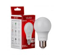 LED лампа Е27 А60 10W тепла біла 3000К SIVIO