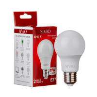 Светодиодная лампа A60 SIVIO теплая белая 10W E27 3000K