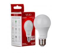 LED лампа Е27 А60 12W нейтральна біла 4100К SIVIO