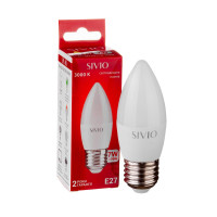 Светодиодная лампа C37 SIVIO теплая белая 7W E27 3000K