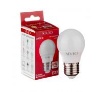 LED лампа Е27 G45 6W тепла біла 3000К SIVIO