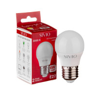 Светодиодная лампа G45 SIVIO теплая белая 6W E27 3000K