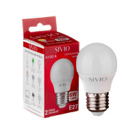 LED лампа Е27 G45 6W нейтральна біла 4100К SIVIO