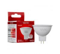 LED лампа GU5.3 MR16 6W нейтральна біла 4100К SIVIO