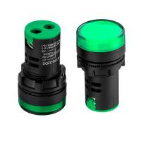 Лампа индикаторная светодиодная зеленая AD16-22DS-24В