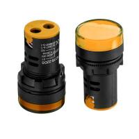 Лампа индикаторная светодиодная желтая AD16-22DS-24В