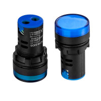 Лампа индикаторная светодиодная синяя AD16-22DS-220В