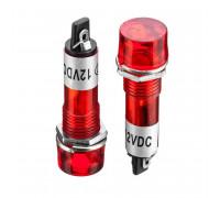 Індикаторна Лампа світлодіодна червона XD10-3-12В (od=10мм)