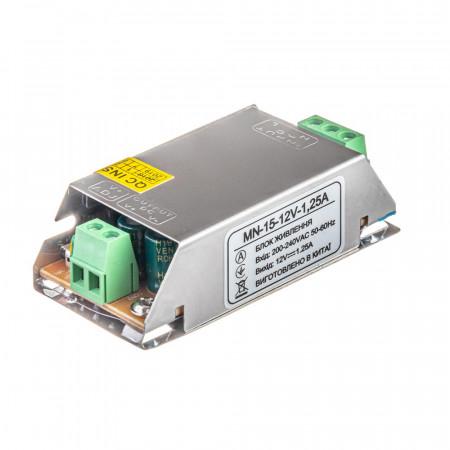 Led блок питания 12V 1.25A 15Вт IP20 MN