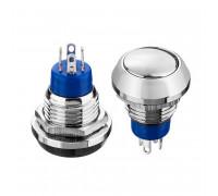 Антивандальна кнопка 12мм 2А 36В без фіксації OFF-(ON) GQ-12B-11 Daier