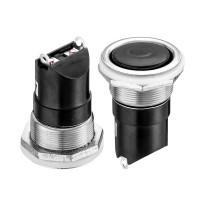 Кнопка нажимная 20мм 6А 250В без фиксации OFF-(ON) AN 24-H SPST 2pin Daier