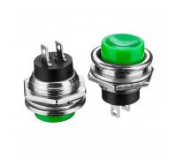 Кнопка нажимная зеленая 16мм 3А 125В без фиксации OFF-(ON) DS-212 SPST 2pin Daier