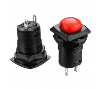Натискна Кнопка червона 12мм 1.5 А 125В без фіксації OFF-(ON) DS-225 SPST 2pin Daier