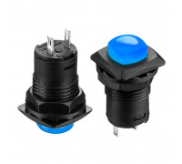 Натискна Кнопка синя 12мм 1.5 А 125В без фіксації OFF-(ON) DS-225 SPST 2pin Daier