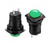 Кнопка нажимная зеленая 12.7мм 1.5А 250В с фиксацией ON-OFF DS-226 SPST 2pin Daier