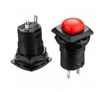 Кнопка нажимная красная 12.7мм 1.5А 250В с фиксацией ON-OFF DS-226 SPST 2pin Daier