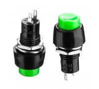Кнопка нажимная зеленая 10мм 2А 250В с фиксацией ON-OFF DS-450 SPST 2pin Daier