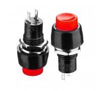 Кнопка нажимная красная 10мм 2А 250В без фиксации OFF-(ON) DS-451 SPST 2pin Daier