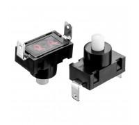 Кнопка нажимная черная 7.5x5мм 2А 250В без фиксации ON-(OFF) PBS-02A SPST 2pin Daier