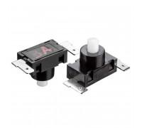 Кнопка нажимная черная 7.5x5мм 2А 250В без фиксации ON-(OFF) PBS-03A SPST 2pin Daier