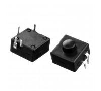 Натискна Кнопка чорна 12х12мм 1А 250В без фіксації ON-(OFF) PBS-07 SPST 2pin Daier