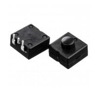 Кнопка нажимная черная 12x12мм 1А 250В без фиксации ON-(OFF) PBS-08 SPST 2pin Daier