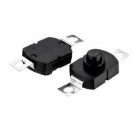 Натискна Кнопка чорна 12.2х24мм 1А 250В без фіксації ON-(OFF) PBS-09 SPST 2pin Daier