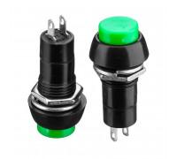 Натискна Кнопка зелена 12мм 1А 250В без фіксації ON-(OFF) PBS-11A SPST 2pin Daier