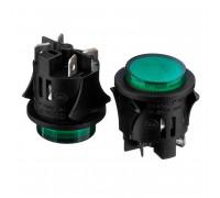 Натискна Кнопка зелена 35х28мм 16А 250В без фиксациии OFF-(ON) PS-18-16 SPST 2pin Daier