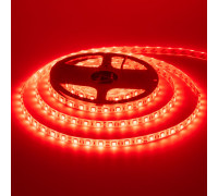 Светодиодная лента красная 12V smd5050 60LED/м IP65