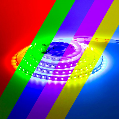 Светодиодная лента 12V RGB smd5050 60LED/м IP65