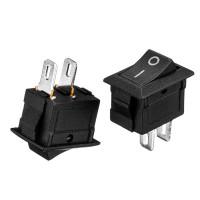 Кнопка переключатель черная 6А 250В (2pin) ON-OFF KCD1-101