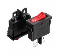 Кнопка перемикач червона 6А (2pin) ON-OFF KCD1-101-12
