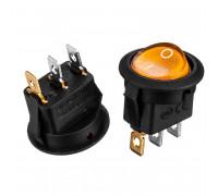 Кнопка перемикач жовта 20мм 6А 250В ON-(OFF) KCD1-101N-8 3pin Daier