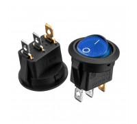 Кнопка переключатель синяя 20мм 6А 250В ON-(OFF) KCD1-101N-8 3pin Daier
