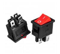 Кнопка переключатель красная 19.2x13.3мм 6А 250В ON-OFF KCD1-201-4 4pin Daier