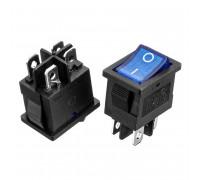 Кнопка перемикач синя 13x10.2мм 6А 250В ON-OFF KCD1-201N-4 4pin Daier
